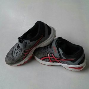 Asics Boys GT-1000 6 Gray and Red Size K13